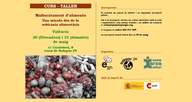 Curs-Taller: Malbarament d'aliments